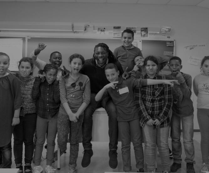 Enfants touchés par Players For Society et Positive football