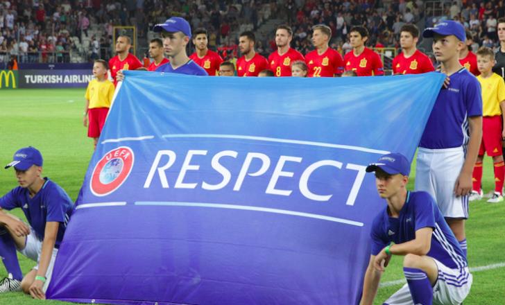 Banderole respect pour un match de ligue europa
