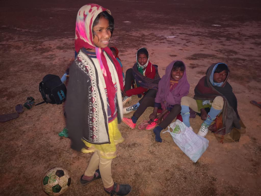 Des jeunes footballeuses rencontrées par Little Miss Soccer