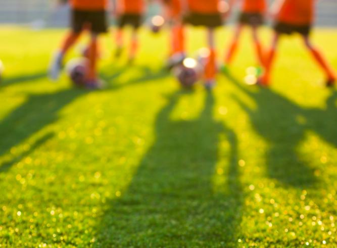 ombrage sur un terrain de football en format portrait